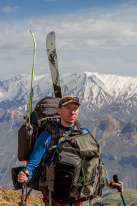 Lars Larsson on Mount Damavand, Iran.